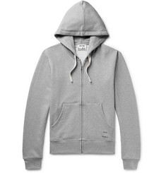 Acne Studios Frake Slim-Fit Mélange Loopback Cotton-Jersey Zip-Up Hoodie