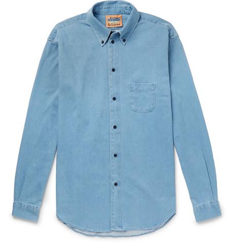 Seiji Oversized Button Down Collar Denim Shirt by Acne Studios