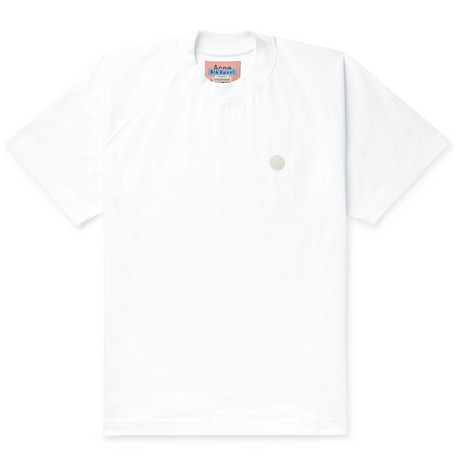 Bassetty Uni Oversized Logo Appliquéd Cotton Jersey T Shirt by Acne Studios