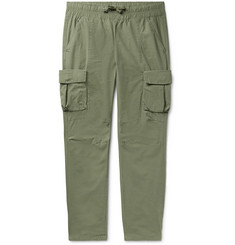 John Elliott Slim-Fit Cotton Drawstring Cargo Trousers