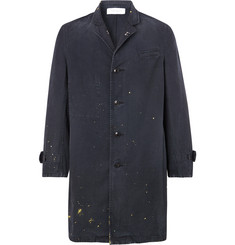 John Elliott Gas Station Paint-Spattered Distressed Cotton Jacket