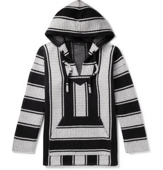 Alanui - Striped Cotton and Cashmere-Blend Hoodie