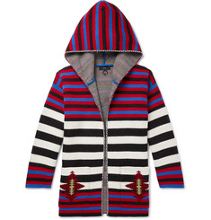 Alanui - Striped Wool-Jacquard Hooded Cardigan