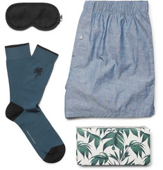 Desmond & Dempsey - Top Drawer Essentials Eye Mask, Socks and Boxer Shorts Set
