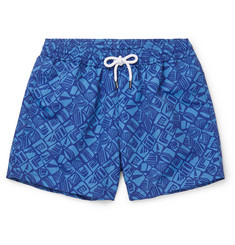 Frescobol Carioca Telha Short-Length Printed Swim Shorts