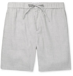 Frescobol Carioca - Mélange Linen and Cotton-Blend Drawstring Shorts