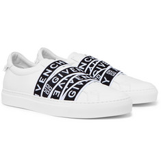 Givenchy - Urban Street Logo-Jacquard Leather Slip-On Sneakers