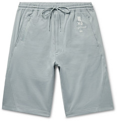 Y-3 - Slim-Fit Loopback Cotton-Jersey Shorts