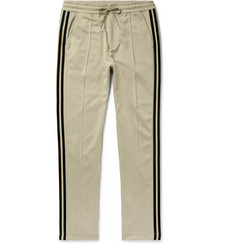 Y-3 Slim-Fit Striped Tech-Jersey Track Pants