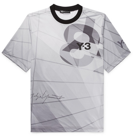 Aop Logo Print Tech Jersey T Shirt by Y 3