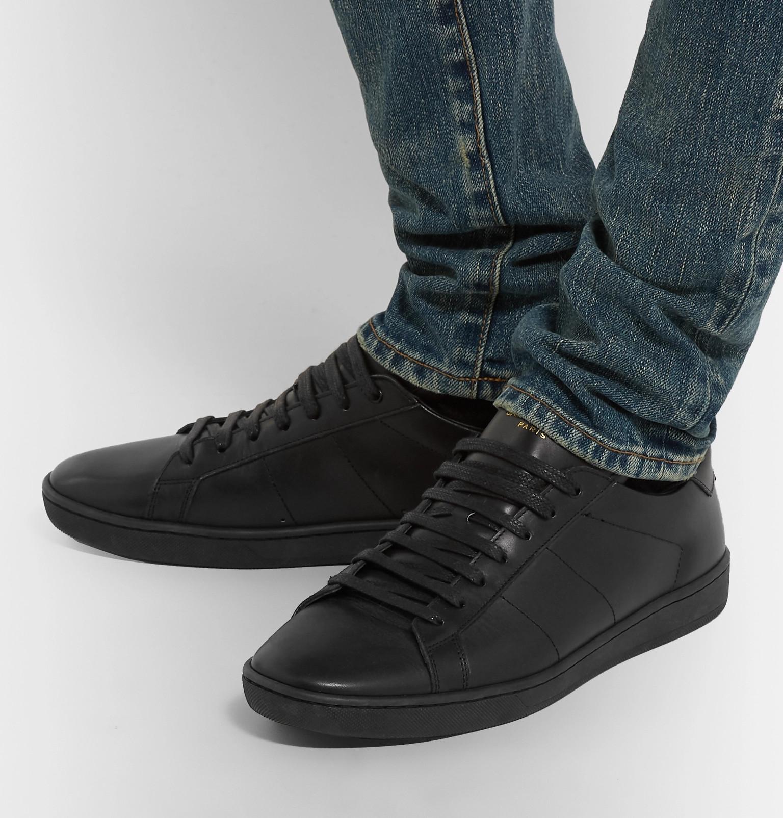 13eb0b10e2948 SAINT LAURENT - SL/01 Court Classic Leather Sneakers