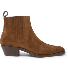 Saint Laurent - Dakota Brushed-Suede Chelsea Boots