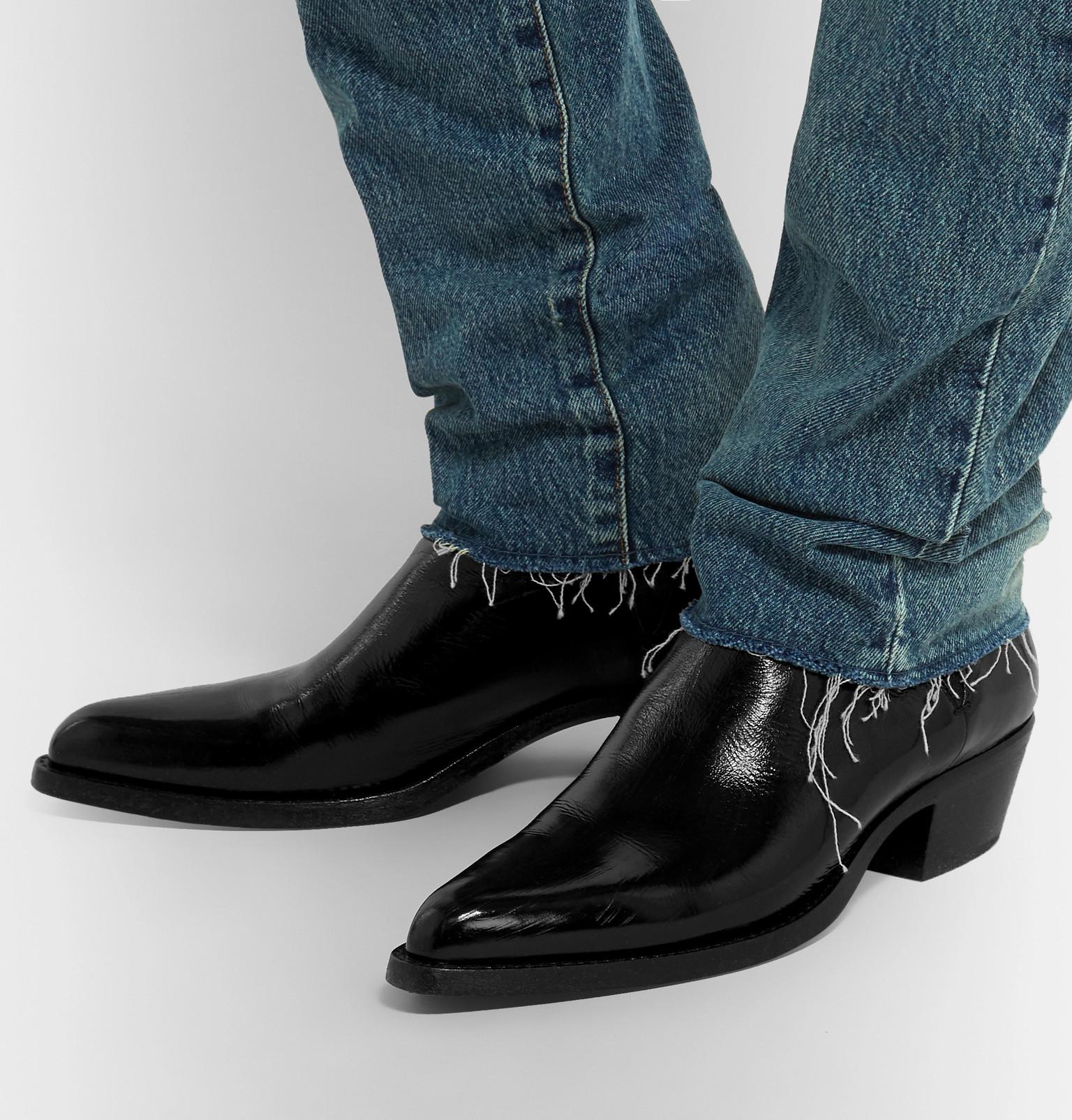 d7ad81cae1ba Saint Laurent - Dakota Polished-Leather Chelsea Boots