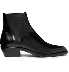 Saint Laurent Dakota Polished-Leather Chelsea Boots