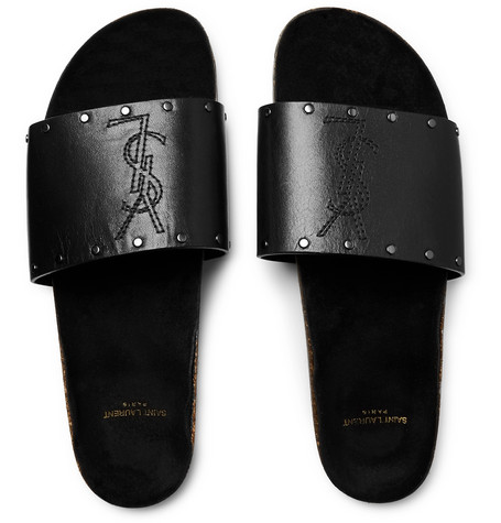 b0147844433 Saint Laurent Men s Jimmy 20 Ysl Slide Sandals In Black