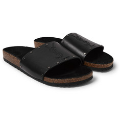Saint Laurent Studded Leather Slides