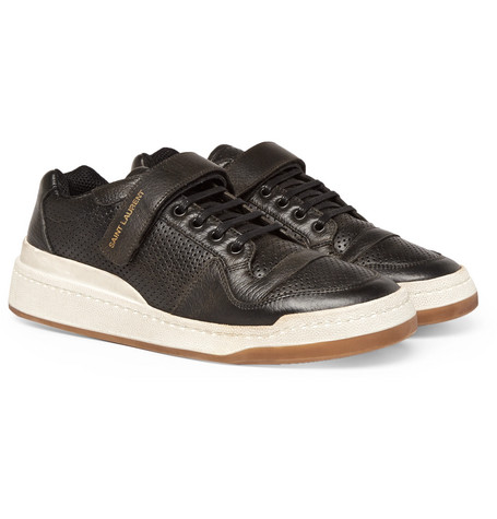 sl24-perforated-leather-sneakers by saint-laurent