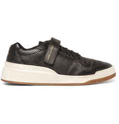 Saint Laurent SL24 Perforated Leather Sneakers