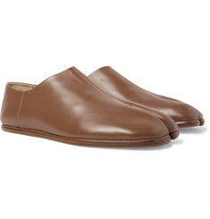 Maison Margiela - Tabi Collapsible-Heel Split-Toe Leather Loafers