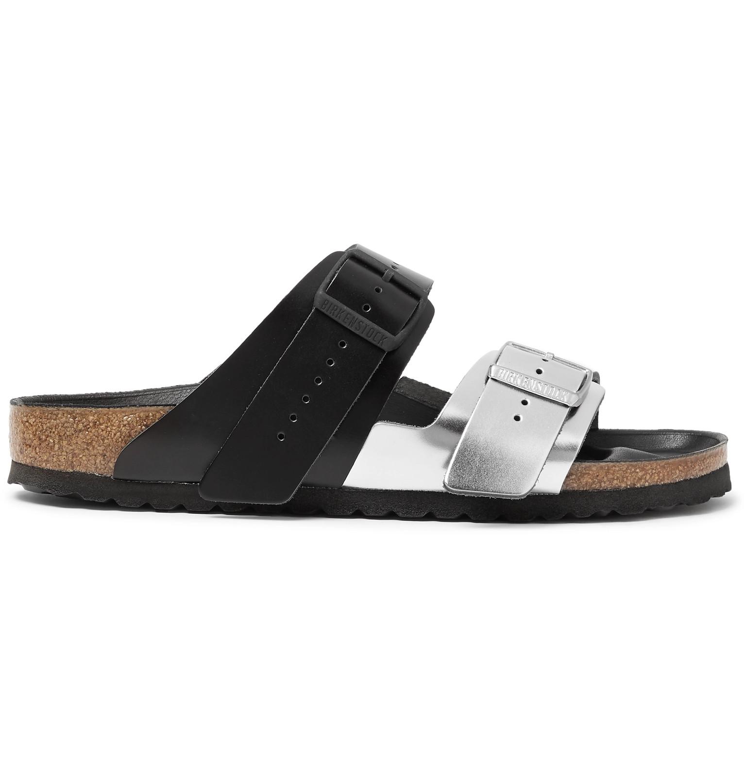 e76999c601f0 Rick Owens - + Birkenstock Arizona Two-Tone Leather Sandals