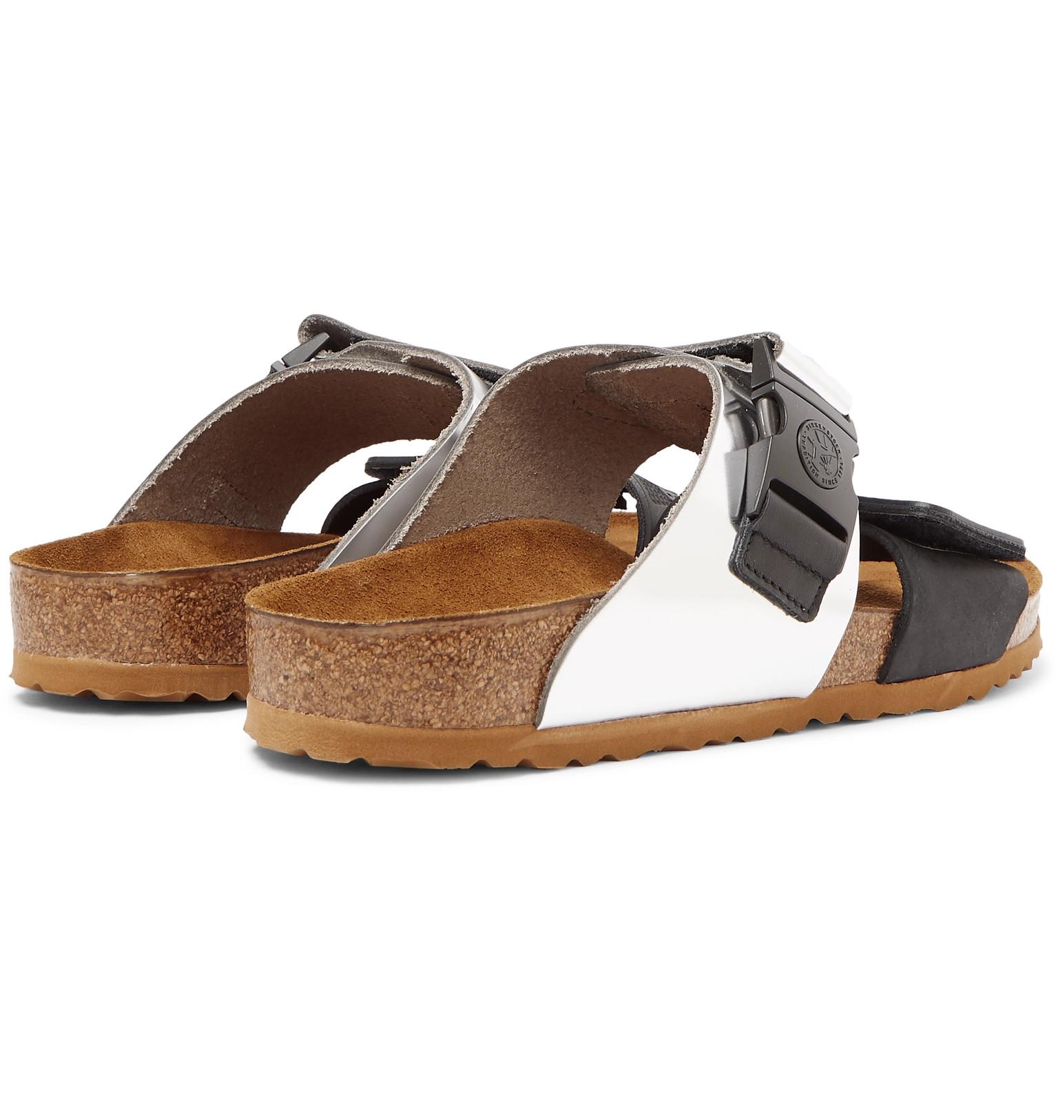 9d3d083811a5 Rick Owens - + Birkenstock Rotterdam Metallic Leather and Rubber Sandals