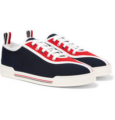 Thom Browne Striped Canvas Sneakers