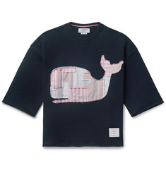 Thom Browne Appliquéd Loopback Cotton-Jersey T-Shirt