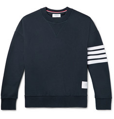 Thom Browne Oversized Striped Loopback Cotton-Jersey Sweatshirt