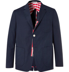 Thom Browne Navy Slim-Fit Unstructured Canvas Suit Jacket