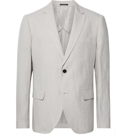 Club Monaco Grant Light-Grey Slim-Fit Linen Suit Jacket