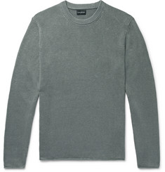 Club Monaco Cotton and Linen-Blend Sweater