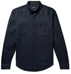Club Monaco - Slim-Fit Button-Down Collar Slub Linen Shirt