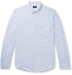 Club Monaco - Slim-Fit Button-Down Collar Puppytooth Linen Shirt