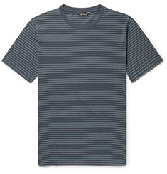 Club Monaco Striped Cotton-Blend Jersey T-Shirt