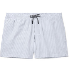 Club Monaco Arlen Mid-Length Striped Seersucker Swim Shorts