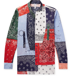 Loewe Patchwork Printed Cotton-Poplin Shirt