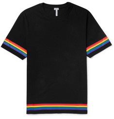 Loewe Contrast-Tipped Logo-Print Cotton-Jersey T-Shirt