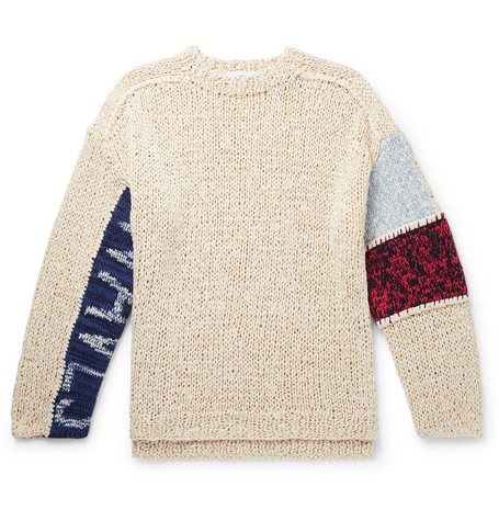 Panelled Cotton Blend Sweater by Ambush®