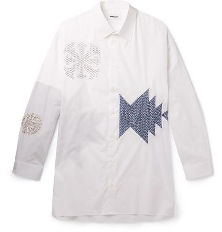 Oversized Appliquéd Cotton Blend Poplin Shirt by Ambush®