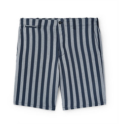 rag & bone Slim-Fit Striped Herringbone Cotton Shorts