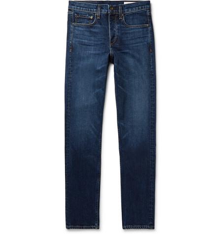 RAG & BONE | Rag & bone - Fit 2 Slim-fit Stretch-denim Jeans - Blue | Goxip