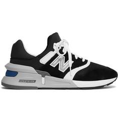 Ms997 Suede, Nubuck And Mesh Sneakers - Black