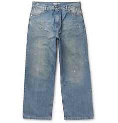 Our Legacy Vast Wide-Leg Distressed Denim Jeans
