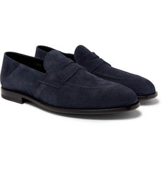 O'Keeffe - Samuel Collapsible-Heel Suede Penny Loafers