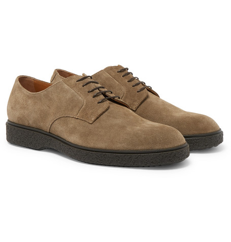 Ferdia Suede Derby Shoes - Light brown