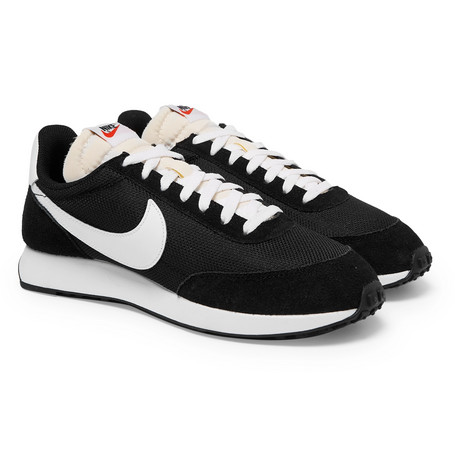 official photos f5a8e 41114 Nike Air Tailwind 79 Mesh, Suede And Leather Sneakers - Black