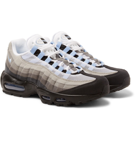 c1054a04f7b68 Nike Air Max 95 Mesh And Suede Sneakers In Black | ModeSens