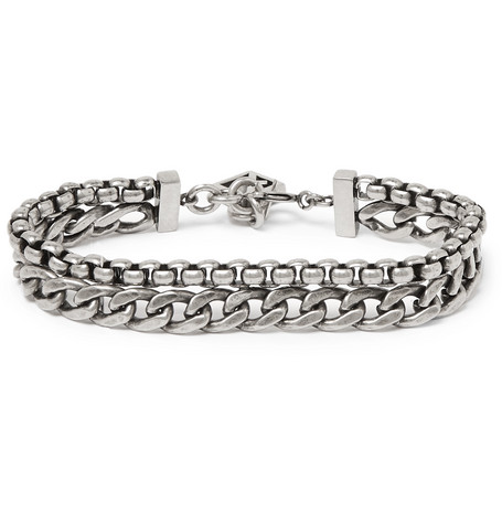 Oxidised Silver Tone Bracelet by Givenchy