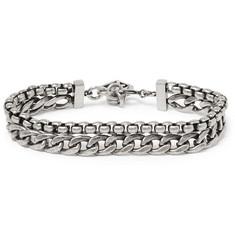 Oxidised Silver-tone Bracelet - Silver