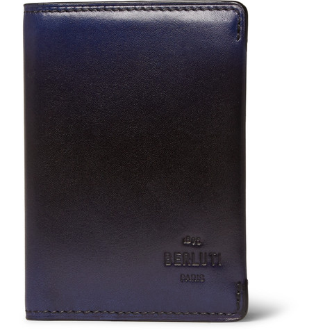 Berluti New Wave Ideal Leather Bifold Cardholder